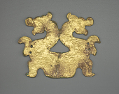 view Plaque in the form of addorsed dragons with dragon interlace digital asset number 1