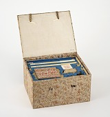 view Cloth-covered box, part of Charles Lang Freer's writing set, see F1980.89-.96 digital asset number 1