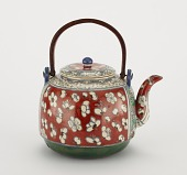 view Kenzan-style ewer with design of plum blossoms digital asset number 1