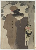 view Soldier and woman, Russo-Japanese war print? (previously mistakenly numbered AND043A) digital asset number 1