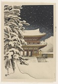 view Ninna-Ji Temple Gate In Snow digital asset number 1