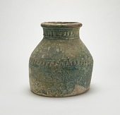 view Jar: large irregularly cylindrical, on a broad flat foot digital asset number 1