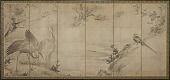view Birds, flowers and trees: on the back, bamboo trees digital asset number 1