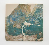 view Tile, large square. Broken, repaired and restored in plaster digital asset number 1