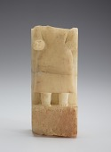view Stela with torso of a figure, fragment in two sections digital asset number 1