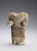 view Human figure with incised three-line inscription around body, fragment digital asset number 1
