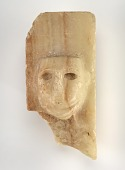 view Stela with male head, fragment digital asset number 1