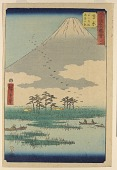 view No. 15 Swamps Around Mount Fuji at Yoshiwara and View of the Bay from the series Pictures of Famous Places of the Fifty-three Stations digital asset number 1