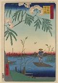 view <em>The Ayase River and Kanegafuchi (Ayasegawa Kanegafuchi)</em> from the series <em>One Hundred Famous Views of Edo (Meisho Edo Hyakkei)</em> digital asset number 1