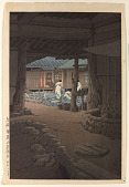 view Chiisanenon Temple in Korea. Oban published by Watanabe in 1942 digital asset number 1