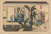 view Facsimile reproduction of: Akasaka, from the series, Fifty-three Stations along the Tokaido digital asset number 1