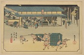 view Facsimile reproduction of Kusatsu, from the series, Fifty-three Stations along the Tokaido digital asset number 1