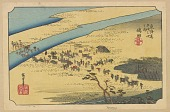 view Facsimile reproduction of Shimada, from the series, Fifty-three Stations along the Tokaido digital asset number 1