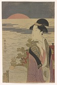 view Facsimile reproduction: Woman viewing the rising sun digital asset number 1