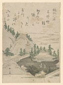 view Eight views of Omi province: Evening Bell at Mii Temple digital asset number 1