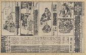 view Kabuki handbill for a performance scheduled for 2/17 Meiji 10 [1878] digital asset number 1