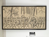 view Rubbing: musicians in a parade, from an Angkor Wat bas-relief digital asset number 1