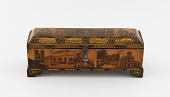 view Writing box with utensils, decorated with photographs of Nasir a-Din Shah, his court, and views of Paris and Tehran digital asset number 1