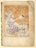 view Folio I from a manuscript of the Gospels: recto: a portrait of St. Mark digital asset number 1