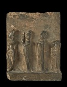 view A Buddhist procession of three musicians and one dancer digital asset number 1