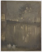 view Nocturne: Grey and Gold–Canal, Holland digital asset number 1