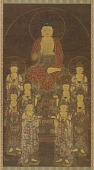 view Buddha Amitabha (Amita) and the Eight Great Bodhisattvas digital asset number 1