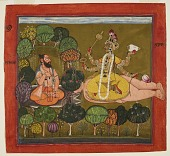 view <em>The Goddess worshipped by the sage Chyavana</em> from a Tantric Devi series digital asset number 1