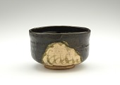 "view Tea bowl in Black Oribe style with mark ""Sobokai"" digital asset number 1"