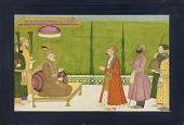 view The poet Sundar Das before Emperor Shah Jahan, folio from a Sundar Shringar digital asset number 1