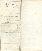 view Record of Charles Lang Freer's purchase of Japanese pottery from Takayanagi Tozo digital asset: Record of Charles Lang Freer's purchase of Japanese pottery from Takayanagi Tozo