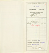 view Record of Charles Lang Freer's purchase of Chinese art objects from Yamanaka & Company, New York. March 6, 1914 digital asset number 1