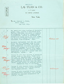 view Record of Charles Lang Freer's purchase of Chinese bronzes and jade from Lai-Yuan & Company. December 1915 digital asset number 1