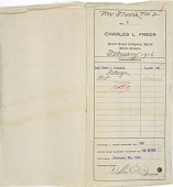 view Record of Charles Lang Freer's purchase of one small Chinese bronze incense burner and one collection of ancient jade from Lai Yuan & Company. February 15, 1916 digital asset number 1