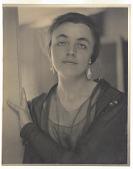 view Alfred Stieglitz portrait of Katharine Nash Rhoades, 1909 digital asset: Portrait of Katharine Rhoades