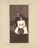 view Portrait of Thomas Wilmer Dewing with daugher digital asset: Portrait of Thomas Wilmer Dewing with daugher