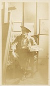 view Portrait of Thomas Wilmer Dewing in his studio digital asset: Portrait of Thomas Wilmer Dewing in his studio