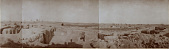 view Excavation of Samarra (Iraq): al-Quraina, House II: Panoramic View Facing East from Room 27 [graphic] digital asset number 1