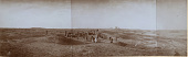 view Excavation of Samarra (Iraq): al-Quraina, House VI: Panoramic View at Early Stage of the Excavation [graphic] digital asset number 1