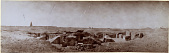 view Excavation of Samarra (Iraq): West of Sur Isa, House XII: Panoramic View of Southwest Corner of Great Courtyard, as well as Room 17, 18, and 15 [graphic] digital asset number 1