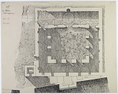 view Citadel of Aleppo (Syria): Great Mosque (Upper Maqām Ibrāhīm): Penciled Ground Plan [drawing] digital asset number 1