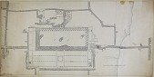 view D-119: Damascus. Great mosque, plan.SA-IV, fig.16 digital asset: Damascus (Syria): Great Mosque: Ground Plan [drawing]