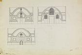 view D-127a: Sha'miya. Another version of D-127 digital asset: Sha'miya (Syria): Nur al-din Mosque: Elevation of Fac̦ades [drawing]