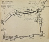 view D-128: Damascus, plan of citadel. Herzfeld drew in Oct.1920 digital asset: Damascus (Syria): Citadel: Ground Plan Displaying Various Historical Periods of Construction as well as Locations of Arabic Inscriptions in Mameluke Sript [drawing]