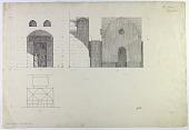 view D-131: Damascus, Madrasa al-Nuriya. Entrance plan.SA-I, fig.76 digital asset: Damascus (Syria): Nur al-Din Madrasa and Mausoleum: Elevation of Entrance Fac̦ade [drawing]