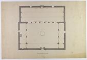 "view D-136: Damascus. Jami' al-Ahmar, plan.SA-IV, fig.32 digital asset: Damascus (Syria): Mosque of al-Ahmar, the ""Red Mosque"": Ground Plan [drawing]"