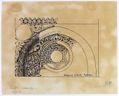 view Khargird (Iran): Madrasa al-Nizamiyya, Mihrab: Detail [drawing] digital asset number 1