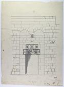 view D-170: Damascus. Kilidjiyya, elevation of portal. Another version ofSA-III, fig.91 digital asset: Damascus (Syria): Madrasa al-Kilidjiyya: Elevation of Entrance Portal [drawing]