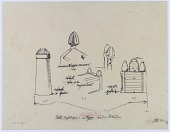 view D-207: Isfahan, Brussa, Shiraz. Goal posts and tombstones (tracings). SA-III, figs.45--48 digital asset: Isfahan (Iran), Brussa (Turkey), Shiraz (Iran), Ispahan (Iran): Goal Posts and Tombstones [drawing]