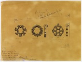view Damascus (Syria), Aleppo (Syria), Mosul (Iraq): Examples of Door Knockers, [drawing] digital asset number 1