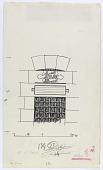 view D-226: Damascus, Salihiya. 'Ali al-Farithi. Window with inscription.SA-III, fig.81 digital asset: Damascus (Syria): Zawiyat Skeikh Ali al-Farithi: Drawing Depicting Inscription Location over Window [drawing]